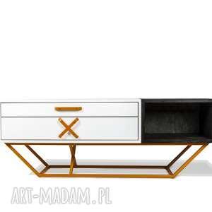Szafka RTV San-Ki 150 Dąb Czerń, rtv, loft, industrial, drewno, nowoczesny, design