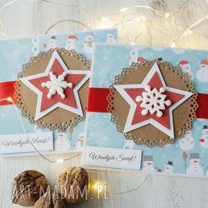 pomysł na prezent święta Komplet 2 kartek Boże Narodzenie, kartka, xmas