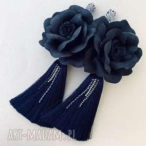 kolczyki gabrielle, z chwostami, kwiatkami, w stylu