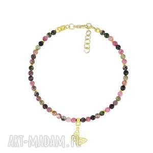 bransoletka z turmalinów i motylkiem - earth energy - lavoga biżuteria