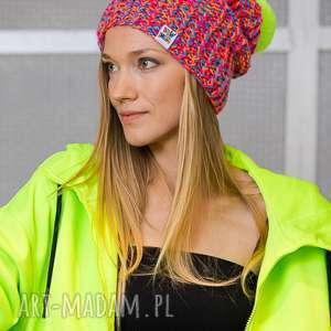 Follow me tropiki czapki brain inside kolorowa, neonowa, neo