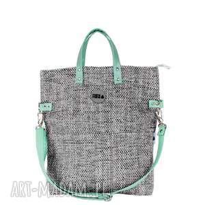 święta prezent, torba damska cube #pistacja, pojemna, wygodna, na-zakupy, duża, modna