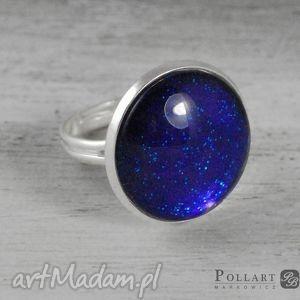 pierścionki pierścionek z kaboszonem, ręcznie malowany, pierścionek, kaboszon