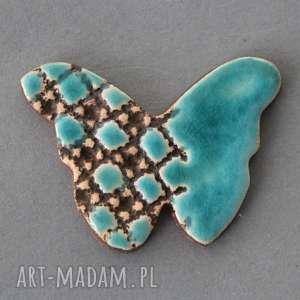 motyl-broszka ceramiczna - upominek, prezent, subtelna, dodatek, urodziny, imieniny