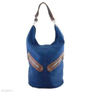 kofi - duża torba worek granatowa, wyjątkowa, pojemna, praktyczna, oryginalna