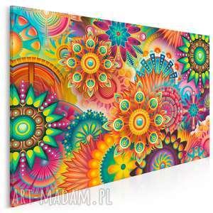 obraz na płótnie - fraktale kolorowy barwny 120x80 cm (85901)
