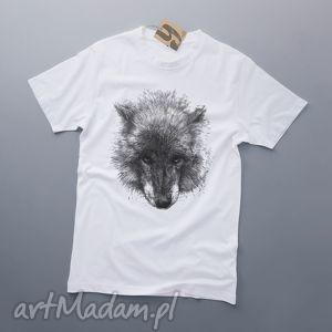 ręczne wykonanie koszulki wilk koszulka z nadrukiem