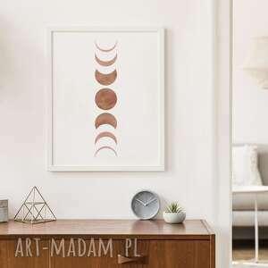 Plakat 30x40 cm - fazy księżyca boho plakaty creo plakat, wydruk
