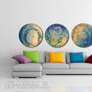 tryptyk księżycowy, planeta, tondo, ziemia, kaiężyc, wszechświat, abstrakcja