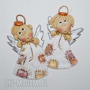 co zaśpiewać - aniołki świąteczne, anioły, dekoracja, prezent, z masy solnej