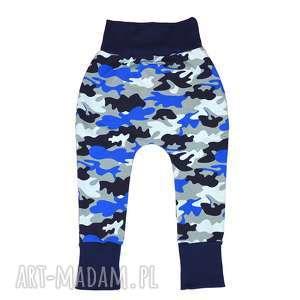 legginsy, spodnie, baggy, moro, granat, dla chłopca, niemowląt, bawełniane