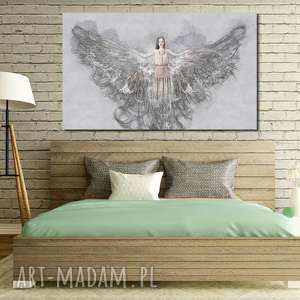 Obraz XXL ANIOŁ 2 -120x70cm design na płótnie, anioł, obraz, szary