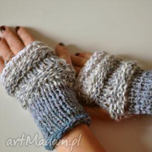 rękawiczki mitenki - rękawiczki, mitenki, niebieski