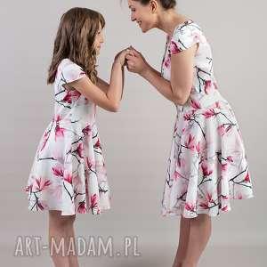 sukienki komplet sukienek magnolia, mamaicórka, kompletsukienek, sukienkarozkloszowan