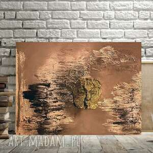 samotność wśród skał, abstrakcyjny obraz, maska z papieru, zielona maska