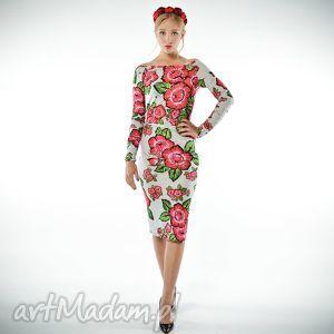 sukienki radochna - sukienka w kwiaty, jersey, sukienka, święta prezent