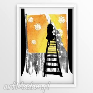 Wieczne Słońce... ilustracje, ilustracja, obrazek, dziewczynka, szczęście, a4
