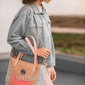 na ramię torba damska cuboid beżowa, torebka-damska, torba-na-ramię