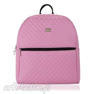 Plecak damski 651 pudrowy róż farbotka plecak, damski, lekki