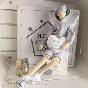 Anioł tilda lalka na pamiątkę chrztu świętego lalki