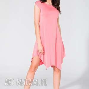 Sukienka T137 różowy, sukienka, letnia, wygodna