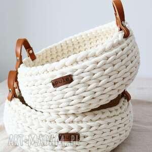 koszyk na pieczywo z grubego, bawełnianego sznurka, kosz