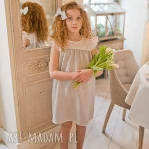 Sukienka Lily, lnianasukienka, sukienkaretro, dladziewczynki, sukienkavintage,