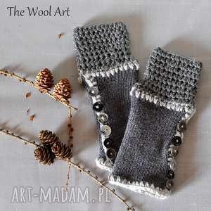rękawiczki mitenki - rękawiczki, mitenki, na dłonie, prezent, wełniane
