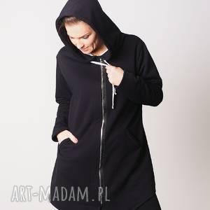 bluzy bluza damska na zamek czarna, bluzy, sukienki, t shirty, bluzki, spodnie
