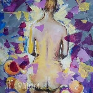 ponad szczęściem obraz akrylowy na płótnie 70cm x 50cm artystki adriany laube