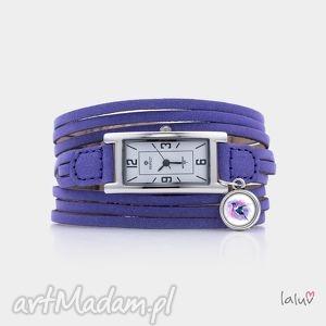 zegarek na skórzanej bransolecie koliber, czas, zegarek, grafika, ptak, tropikalny