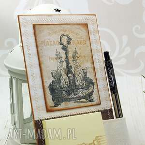 Notes magnes na lodówkę - retro scrapbooking notesy shiraja