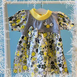 Wiosenna łączka. Sukienka dla lalki, misia ok. 40 cm