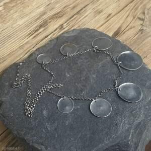Prezent Naszyjnik srebrny, naszyjnik-srebro, biżuteria-autorska, srebro-oksydowane