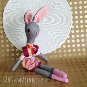 króliczek uszyty z bawełny - królik, tilda, bawełna