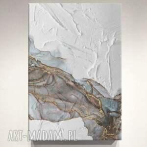 delikado - obraz nowoczesny z wyraźną strukturą w delikatnych pastelowych kolorach