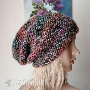 klasyka beannie, milutka, mięsista czapka, rękodzieło, bezszwowa czapka na druta
