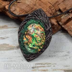 handmade wisiorki duży, leśny wisior