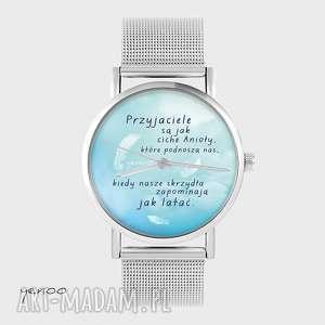 ręczne wykonanie zegarki zegarek, bransoletka - przyjaciele metalowy