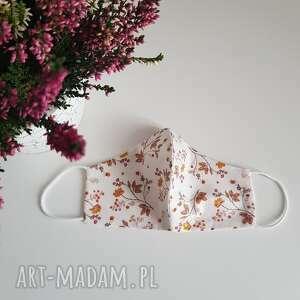 maseczka bawełniana kobieca listeczki, madeczka profilowans, maseczka