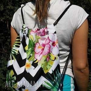 kolorowy plecak - worek, plecak, wodoodporny, ortalion, impregnowany