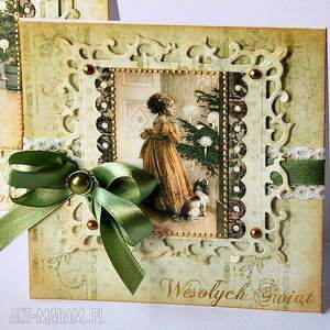 zestaw 10 kartek świątecznych dla pani elizy, kartka, handemade, święta, retro