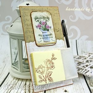 notes na lodówkę- różana melodia, notes, na, lodówkę, magnes, róże, kwiaty