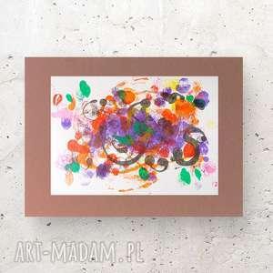 abstrakcyjna grafika, nowoczesna dekoracja na ścianę, abstrakcja do pokoju