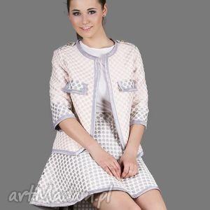 żakiet/ marynarka 3d pink polka dot jacket, żakiet, marynarka, grochy, oryginalna