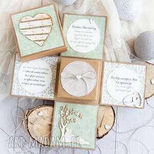 mrufru eksplodujące pudełeczko ślubne personalizowana dedykacja, na ślub