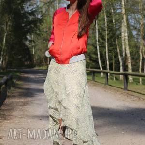 Zieleń Marakeszu, letnia-spódnica, boho-spódnica, zwiewna-spódnica, maxi-spódnica,