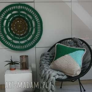 poduszka w graficzny wzór, dom, boho