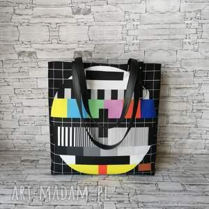 torebka - przerwa techniczna, damska handmade, shopper kolory kolorowa