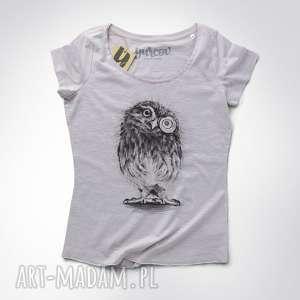 SOWA PÓJDŹKA bluzka oversize, luzna, koszulka, dekolt, smieszna